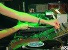 DJ Lucca's hands